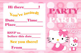 E Card Invite Hello Kitty Birthday Invite Afoodaffair Me