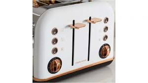Morphy Richards Accents Toaster Morphy Richards Accents Rose Gold 4 Slices Toaster White