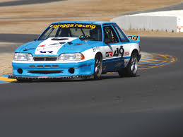 racing mustangs griggs racing s blue road racing mustang winner