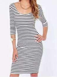 dress navy blue and white striped dress bodycon dress wheretoget