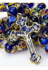 rosary from the vatican glass rosary murrina