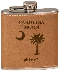 Personalized Kitchen Gifts by 4685 6 Oz Natural Leather Wrapped Stainless Steel Flask And