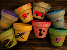 Small Flower Pot by Small Flower Pots Hand Painted Pots Kids Party Favors