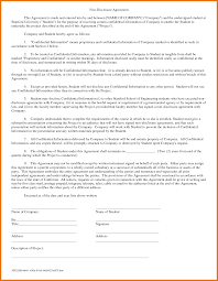Non Disclosure Statement Template by 3 Basic Non Disclosure Agreement Itinerary Template Sle