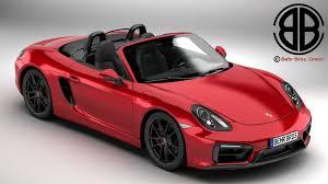Porsche Boxster 2015 - porsche boxster gts 2015 3d model vehicles 3d models boxster 3ds