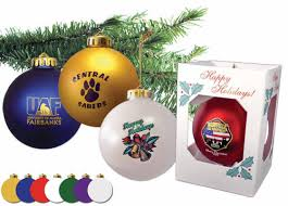 corporate ornaments custom imprinted with company logo