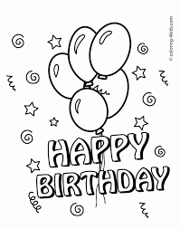 printable birthday cards that you can color happy birthday coloring cards printable collection free printable