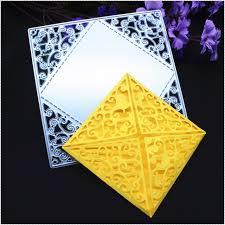 Embossing Templates Card Making - aliexpress com buy square metal cutting dies stencils diy