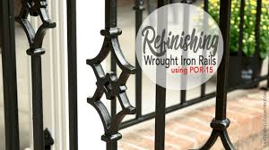 Refinishing Wrought Iron Patio Furniture by How To Refinish Wrought Iron Rails Using Por 15 Youtube