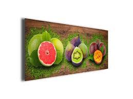 tableau panoramique déco cuisine fruits sur toile imprimée