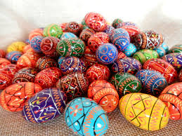 painted wooden easter eggs set of 5 small ukrainian painted wooden easter eggs for a decor