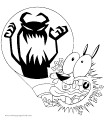 courage the cowardly dog printable coloring pages murderthestout