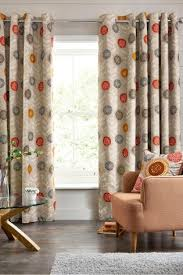Retro Floral Curtains Buy Retro Floral Print Eyelet Curtains From The Next Uk