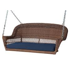honey resin wicker porch swing with cushions free shipping today