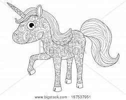 coloring book listen children unicorn coloring book vector photo bigstock