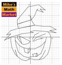 halloween scare e cat and jack a coordinate graphing activity