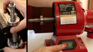 bench grinder bearing repair youtube