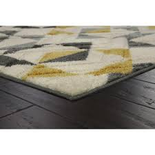 yellow and gray triangles yellow area rug maples rugs