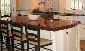 Kitchen Design Massachusetts Mahogany Wood Countertop Kitchen Island In Massachusetts