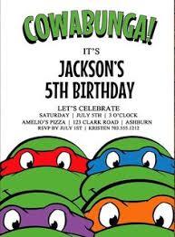 ninja turtles birthday party invitations drevio invitations