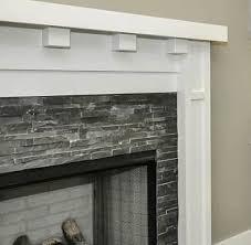 Mosaic Tile Fireplace Surround by Ledger Panel Black Slate Mosaic Tile U0026 Stone Fireplaces
