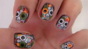 skull halloween nail art design nail art gallery