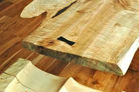 Custom Dining Room Tables by Curly Maple Slab Custom Dining Table With Sculpted Block Base