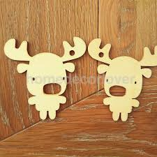 aliexpress com buy 10pcs wooden gift tags cutout fawn reindeer
