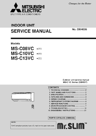 mitsubishi ms c13vc f1 service manual schematic