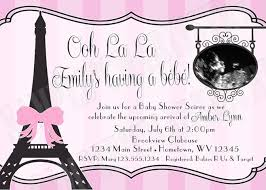 parisian baby shower themed baby shower invitations themed baby shower