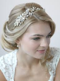 bridal headband pearl gold headband shop wedding accessories