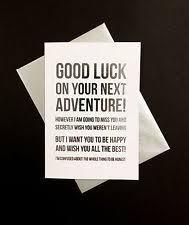 Congrats On New Job Card Good Luck Greeting Cards Ebay