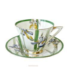 royal doulton deco iris teacup and saucer set