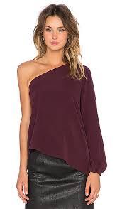 one shoulder blouse ramy brook kanye one shoulder blouse in cranberry revolve