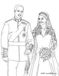 prince william and kate middleton coloring pages hellokids com