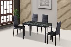 Black Dining Room Table And Chairs Idsonlinecorp Modern Glass 7 Piece Dining Table Set U0026 Reviews
