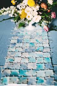 make your own table runner diy watercolor table runner ruffled