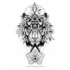 tiger geometric tattoo on instagram