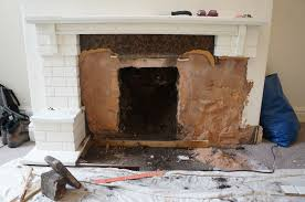 Remove Brick Fireplace by Hammer U0026 Brush Removing A Gas Fire
