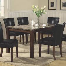 marble dining room set coaster company telegraph faux marble dining table brown chairs