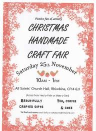 christmas craft fair u2013 all saints u0027 rhiwbina benefice of whitchurch