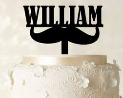 mustache cake topper birthday cake topper with mustache custom cake topper
