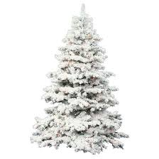 3ft flocked alaskan pine artificial tree with