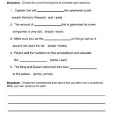 homophones worksheet 2