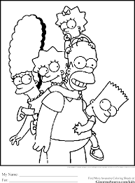 meet the yellow family simpsons coloring pages and pictures