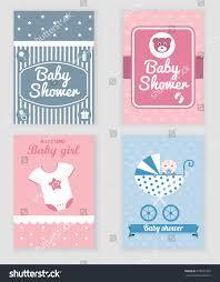 Invitation Card Formats Baby Shower Celebration Greeting Invitation Card Stock Vector