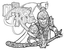 coloring pages u2013 the official world of the monkey king join the