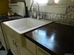 farmhouse sink with backsplash serene farmhouse sink into ikea kitchen cupboards ikea hackers ikea