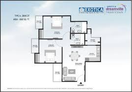 2 bhk home design plan
