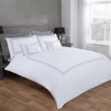 Luxury White Bedding Sets Burlington White Silver Luxury Easy Care Duvet Cover Julian Charles
